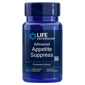 "alt=""A picture of Advanced Appetite Suppress supplement from life extension."""